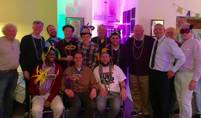 The YAG threw a Mardi Gras party for the D/W community!